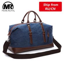 MARKROYAL męskie torby płócienne Duffel torby podróżne na noc torby podróżne o dużej pojemności dzikie torby rekreacyjne torebki odporne na przecięcie torby na ramię tanie tanio Canvas Wszechstronny 24cm 54cm zipper Podróż torba 1 25kg Markroyal 8655 Travel Bag Miękkie Na co dzień Canvas with leather