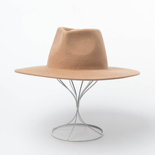 Autumn and Winter Felt Hat Fedoras Cap Big Hat Gorra Wool Hat Hat Big Jazz Hat Ladies Flat Fedoras Men Wool Felt Hat 2019 britain fuzzy ball embellished felt horseman hat
