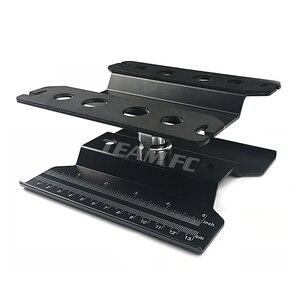 Image 4 - 360 שחור קצר עבודת Stand תיקון תחנת הרכבה פלטפורמת מעלית או נמוך יותר עבור 1/8 1/10 Scale RC דגם רכב TRX4 צירי S26