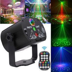 Mini rgb efeito de luz de discoteca led estágio projetor laser vermelho azul verde lâmpada usb recarregável festa aniversário casamento dj lâmpada