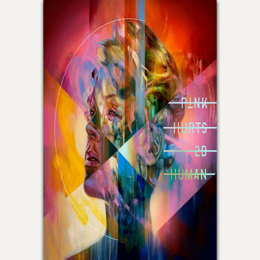 Hot P!nk Hurts 2B Human 2019 Pink Music Album New Tour Print Art Silk Poster
