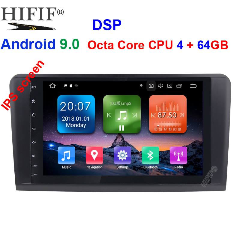 Android 9.0 4G 64G car GPS For <font><b>Mercedes</b></font> Benz <font><b>ML</b></font> GL W164 ML350 ML500 GL320 X164 ML280 GL350 GL450 radio stereo navigation NO DVD image