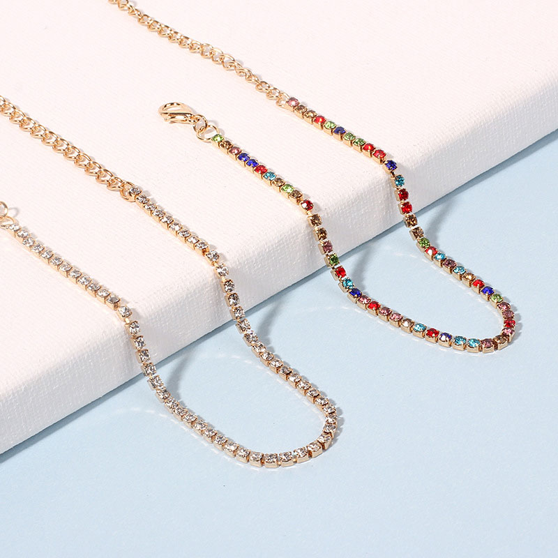 New Multicolor Rhinestone Anklet Creative Claw Chain Anklet Ladies Fashion Jewelry For Women Birthday Gifts Holiday Accessories