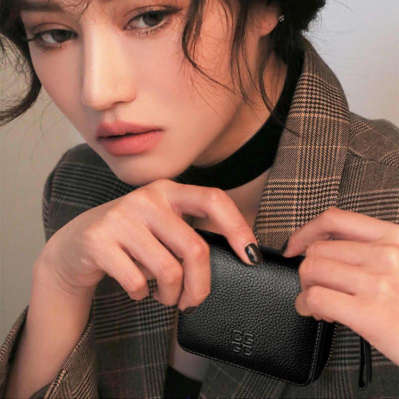P-F сумка от известного бренда из натуральной кожи Минималистский Органайзер Для женщин Бизнес держатель для карт Для мужчин из воловьей кожи дорожный с молнией карты сумка высокого качества