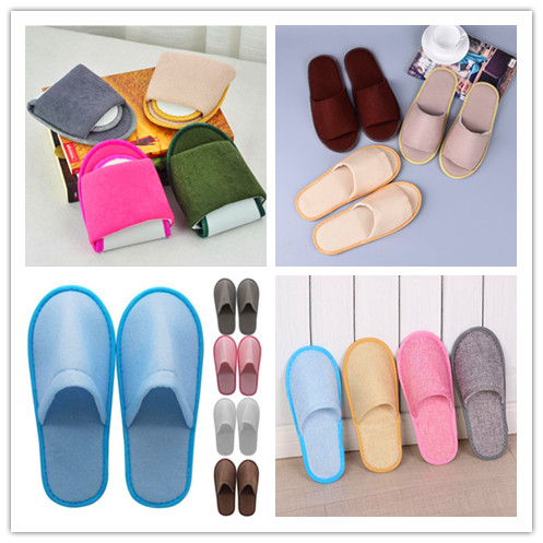 2019 New Simple Unisex Slippers Hotel Travel Spa Portable Men Slippers Disposable Home Guest Indoor Cotton Fabric Men Shoes