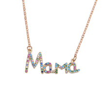 Fashion Charm Gold 26 Letter Pendant Necklace Micro Inlaid Zircon Letter Necklace Couple Name Necklace trendy rhinestone inlaid letter round pendant necklace for lovers