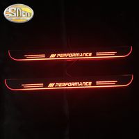 SNCN 2PCS Car LED Door Sill For BMW E63 E64 2002 2007 Ultra thin Acrylic Dynamic LED Welcome Light Scuff Plate Pedal