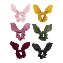 6 Pcs Hair Scrunchies for Women, Fashion Cute Ponytail Holder Chiffon  Elastics