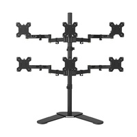 Desktop Stand Full Motion 360 Degree 6 Screens Monitor Holder 10 24LCD LED Monitor Mount Arm Loading 9kgs Each Head