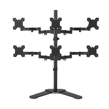"Desktop Stand Full Motion 360 Degree 6 Screens Monitor Holder 10""-24""LCD LED Monitor Mount Arm Loading 9kgs Each Head"