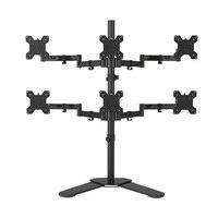Desktop Stand Full Motion 360 Degree 6 Screens Monitor Holder 10 24LCD LED Monitor Mount Arm Loading 9kgs Each Head