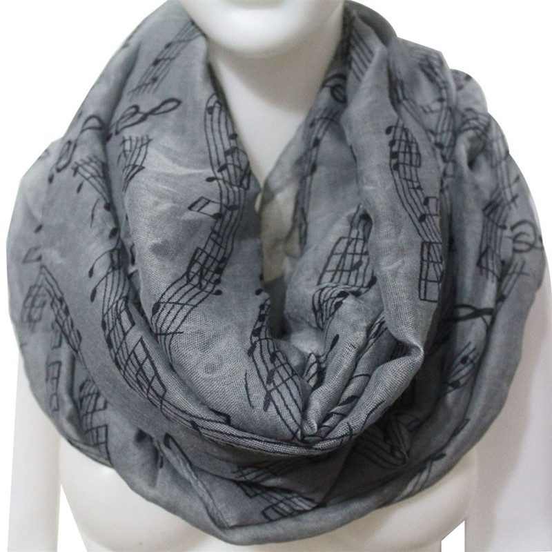 Women´s Music Notes Beautiful Long Soft Chiffon Scarf Wrapped Shawl Scarf new products Selling