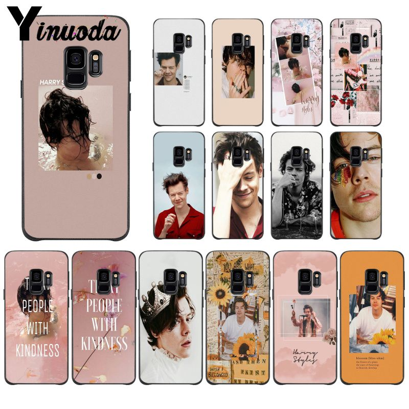 One Direction <font><b>Harry</b></font> <font><b>Styles</b></font> Pink TPU <font><b>Phone</b></font> Cover For <font><b>Samsung</b></font> Galaxy <font><b>s5</b></font> s8 s9 s10 plus S10 E lite S10-5G S20 UITRA Mobile <font><b>Cases</b></font> image