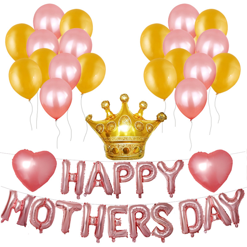 FOIL BALLOON HAPPY MOTHERS DAY No 1 Mum Balloon Crown Inflatable Decoration