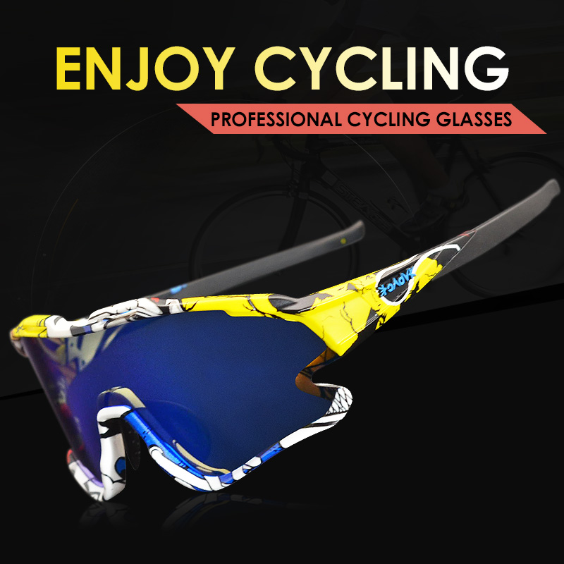 Cycling Sunglasses Professional Polarized Cycling Glasses MTB Road Bike Sport Sunglasses Bike Eyewear UV400 Bicycle Goggles 2