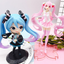 Vocaloid Hatsune Miku Action Figure Sexy Bunny pink Sakura Q version cute girl Collection model toys doll