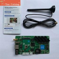 Бесплатная доставка HD-D10/D15 контроллер с usb/rj45/wifi Концентратор 75 полноцветный внутренний/открытый совместимый система управления картой