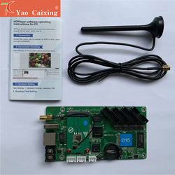 شحن مجاني HD-D10/D15 تحكم مع usb/rj45/wifi HUB 75 كامل لون داخلي/في الهواء الطلق متوافق نظام التحكم بطاقة