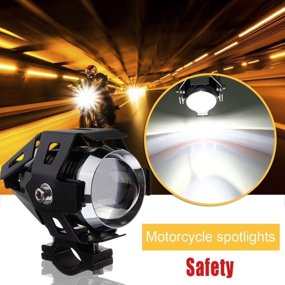2PCS Motorcycle Spot Light Safety Driving Fog Light High Brightness U5 LED Light 3000LM For BMW Spotlight 125W