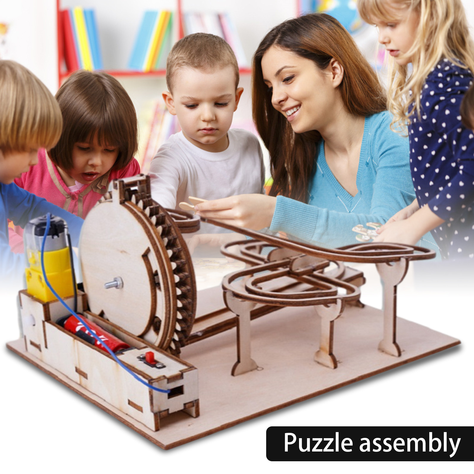 Wooden Marble Run Model Kit 3D Mechanical Puzzles For Kids Adults DIY Toys And Play House Toys
