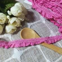 1m хлопчатобумажная ткань гипюр красного и розового цвета с