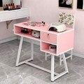 Простой Маникюрный Стол  небольшой стол для маникюра  белый простой современный двойной стол для ногтей