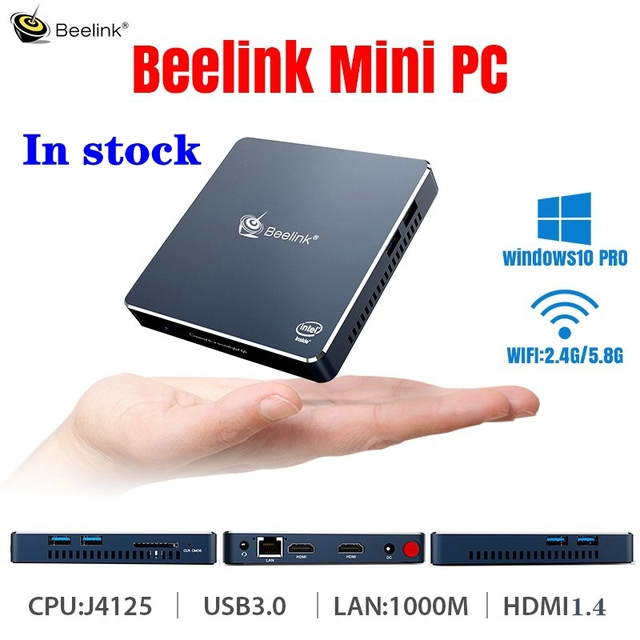 Beelink Gemini M Mini PC Computer Windows 10 TV BOX 4GB 8GB J4125 Intel Lake Refresh Processor 1000M LAN 5.8G WIFI bluetooth 1