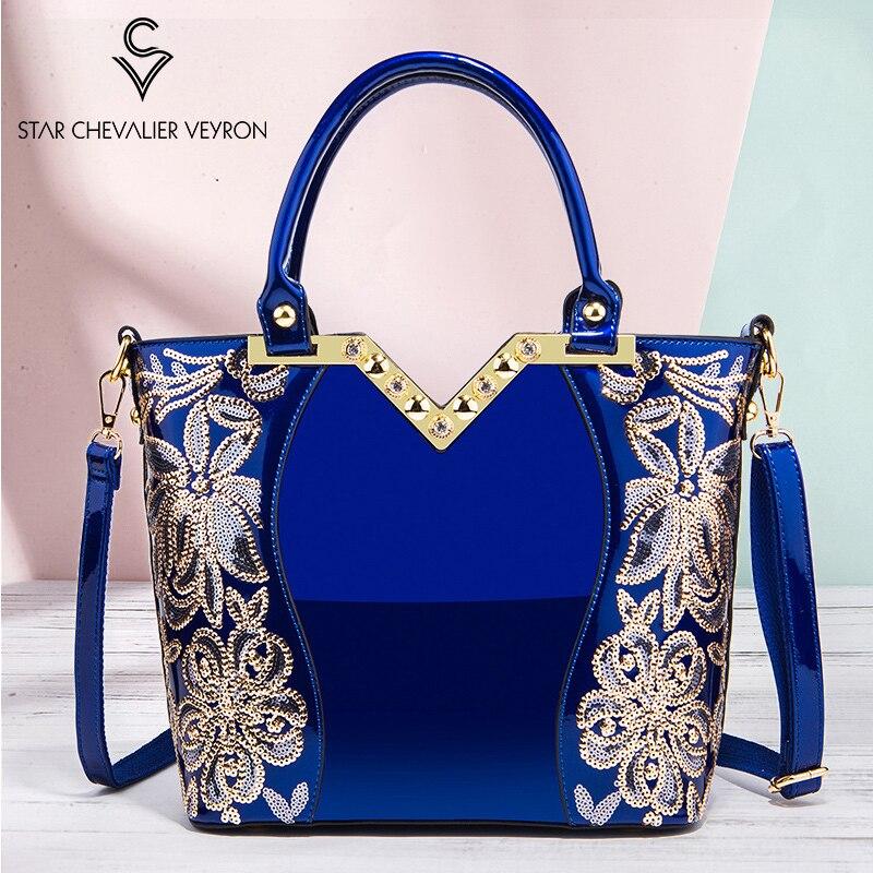 SCV 2020 New Luxury Women Hangbag Bright Leather Elegant Ladies Shoulder Bag Female Crossbody Bags Women's High Quality HandBags