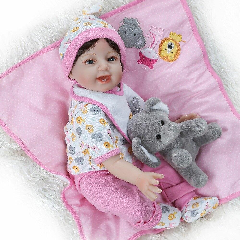 Boneca Reborn 22 дюймов Мягкие силиконовые виниловые куклы 55 см Reborn Baby Doll Новорожденные реалистичные Bebes кукла подарок на день рождения
