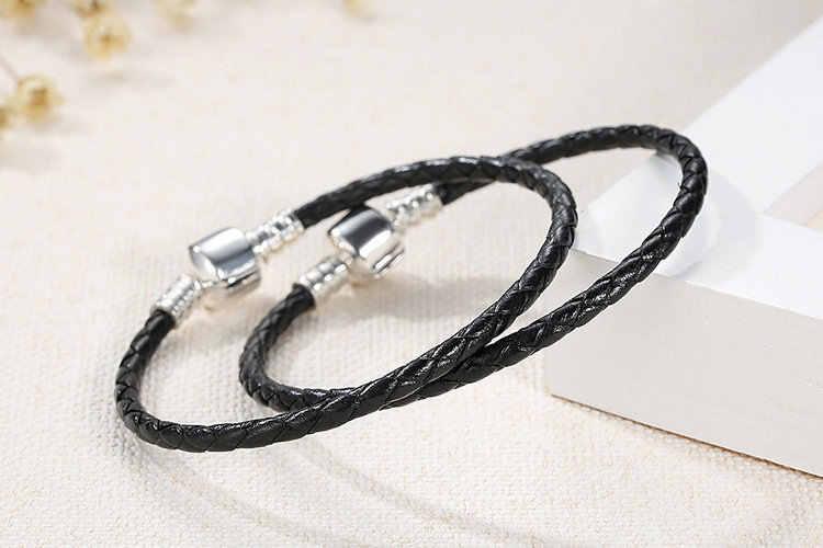 Luksusowa marka Fit oryginalna bransoletka pandora 7 kolorów skórzany łańcuszek urok delikatna bransoletka dla kobiet dziewczyna prezenty biżuteria 2019