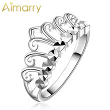 Aimarry 925 шарма стерлингового серебра корона кольца для женщин