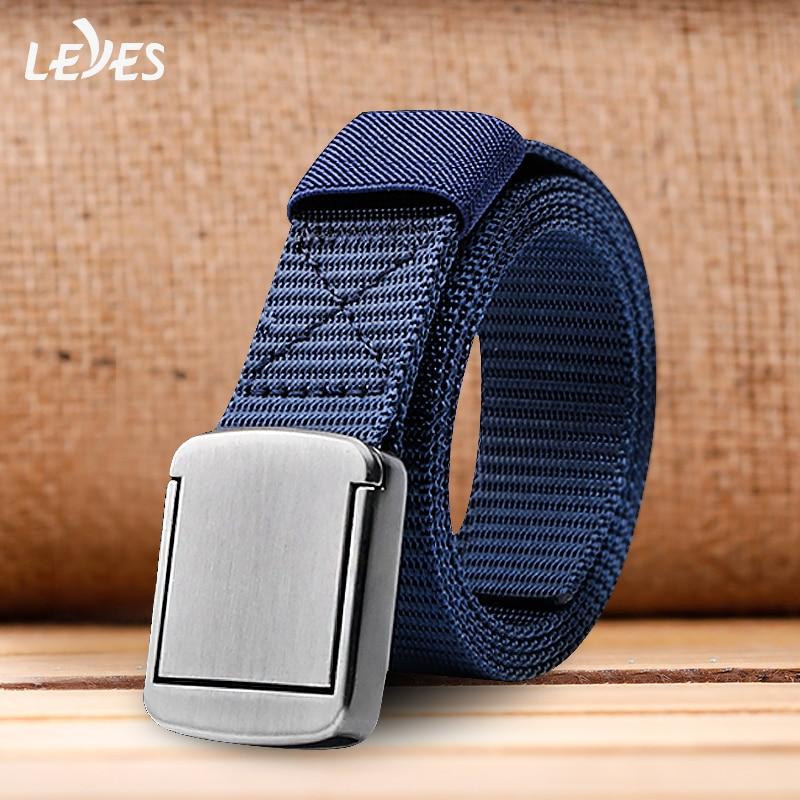 Adjustable Mens Alloy Automatic Buckle Waistband Belts Waist Strap Unique Belt Buckle Smooth Button