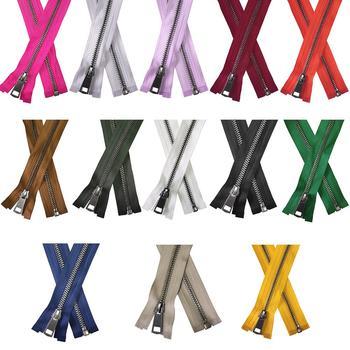 30/40/50/60/70/80cm 5# Colorful High Quality Open-end Auto Lock Gun Black Metal Zipper DIY Handcraft For Clothing Pocket Garment