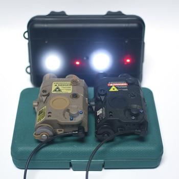 WADSN Airsoft LA-5 PEQ15, punto rojo IR, mira láser táctico LA5C PEQ 15, arma, linterna, 200 lúmenes, caza, Armas, luz blanca de explorador