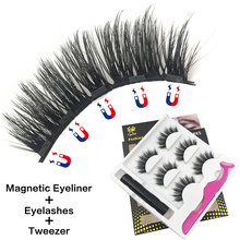 3 Pairs Magnetic Eyelashes Faux Mink Lashes Handmade 33 Styles Natural Long 3D Fake Makeup Eyeliners