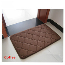 цена на Stripe Coral Fleece Doormat Area Rug Bathroom Kitchen Non-Slip Small Carpet Door Floor Mat Tapete  Home Decor Supplies
