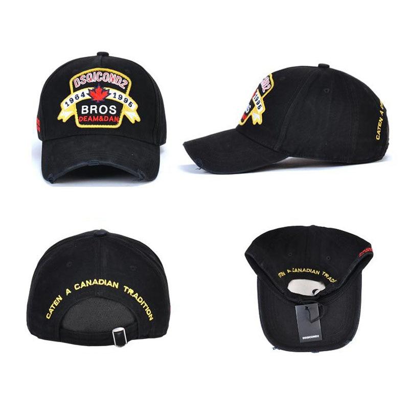 New DSQUARED2 ICON Snapback Baseball Cap Unisex Hat Black Free Shipping