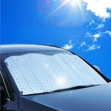 Автомобильный козырек на лобовое стекло крышка Солнцезащитный козырек Авто летняя наклейка Солнцезащитная пленка 130*60 см/140*70 см солнцезащитный козырек
