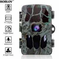 BOBLOV 20MP 1080P kamera myśliwska 0.2s Trigger Wildlife Camera Scouting bezpieczeństwo polowanie Trail kamery IP66 4K Photo Trap Outdoor