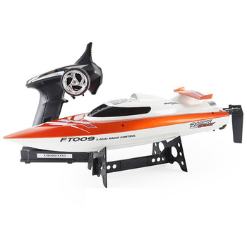 EU Plug FT009 2.4GHz 4 Channel Water Cooling High Speed Racing RC Boat Gift
