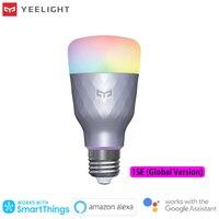 Yeelight-bombilla LED 1SE, luz de ahorro de energía, Control de voz inalámbrico, E27, 6W, RGB, compatible con aplicación Google Alexa para casa inteligente