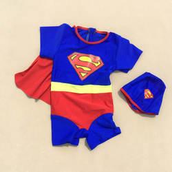 Оптовая продажа от производителя, купальный костюм для мальчиков, устойчивый к воздействию солнца, с шапкой для плавания, с мультяшным