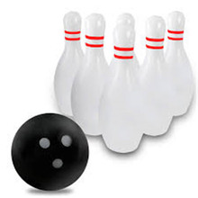 6 Pieces/set Kids Giant Inflatable Roly-Poly Bowling Bottle