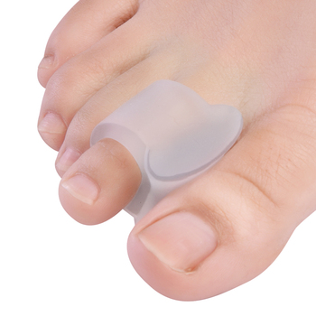 2pcs Soft Silicone Gel Toe Separator Hallux Valgus Bunion Spacers 0verlapping Toes Thumb Corrector Foot Care Tool C1587