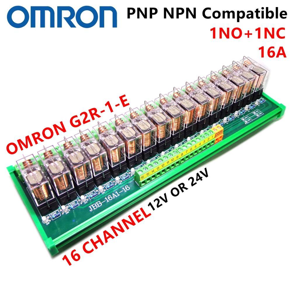 modulo spdt do rele 1no 1nc g2r 1 e 12v 24v 16a pnp npn montagem em