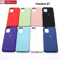 Oneplus-funda de silicona suave para One plus 8T, funda trasera suave y delgada, 8t, 10 colores, Original