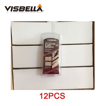 Buy 12kits/box Visbella update Auto Car Seat Sofa Coats Holes Scratch Cracks Rips Leather Vinyl Repair Kit Leather Restoration directly from merchant!