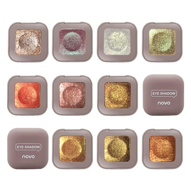 Novo Shimmer Glitter Eye Shadow Palette Polarize Shine Makeup Single Eyeshadow Sparkling Duochrome Pigment Powder Cosmetics 1
