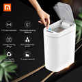 Xiaomi Mijia NINESTARS Smart Prullenbak Motion Sensor Auto Afdichting LED Inductie Cover Trash 7L Ashcan Bins IPX3 Waterdicht