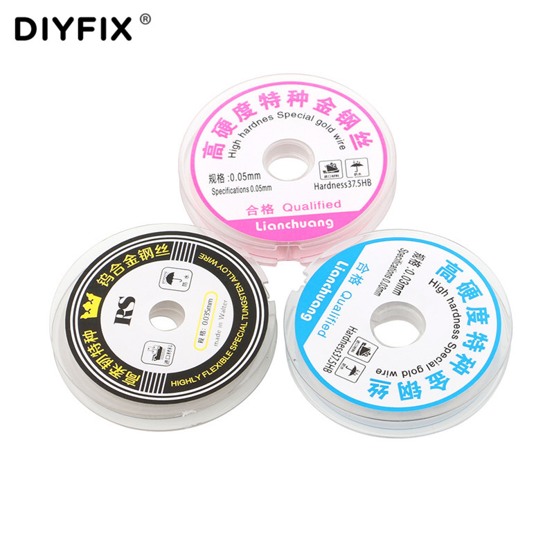 DIYFIX 0.03-0.05mm High Hardness Special Gold Wire LCD Screen Separation Wire Cutting Line For Samsung IPhone Repair Hand Tool